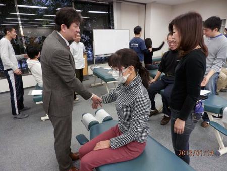 2013.1.14 大川カイロ専門学院にて